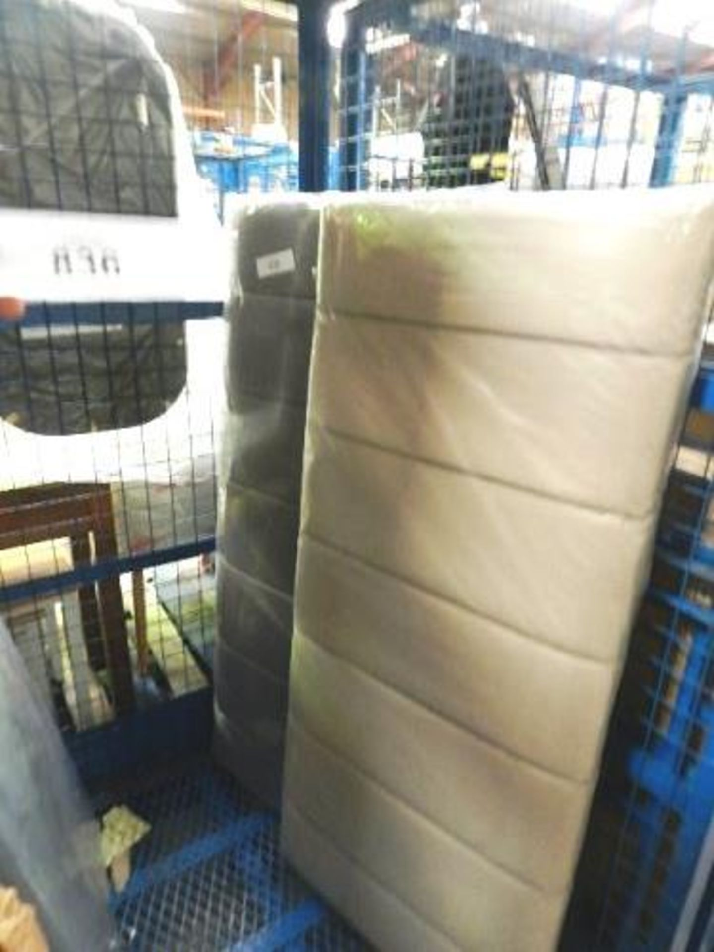 Lot 836 - 2 x Fairmont Park Bellaire headboards, colour cedar and grey, RRP £56.00 each - Sealed new in box (