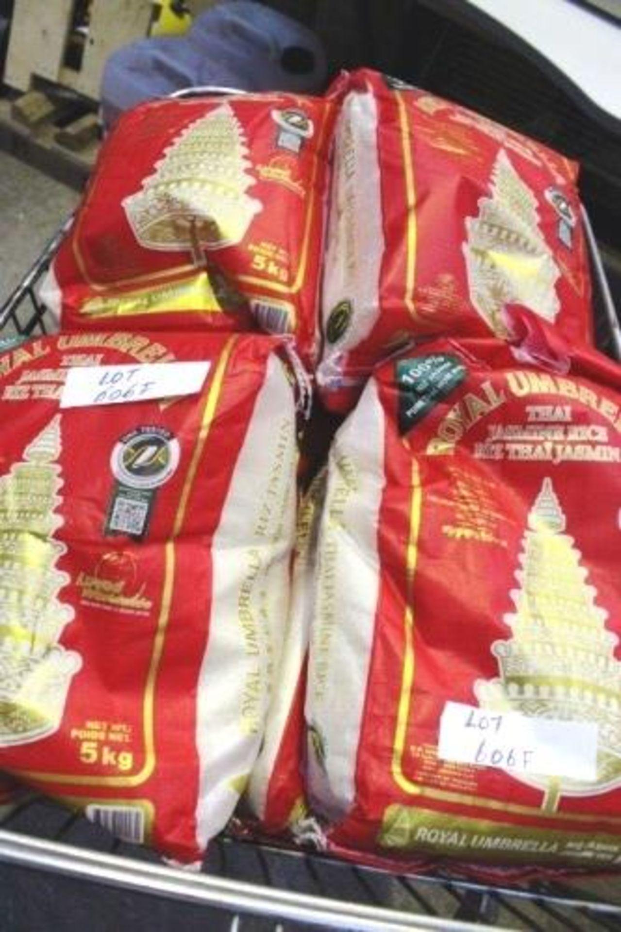 Lot 606F - 12 x 5kg bags of Royal Umbrella Thai Jasmine Rice (est2)