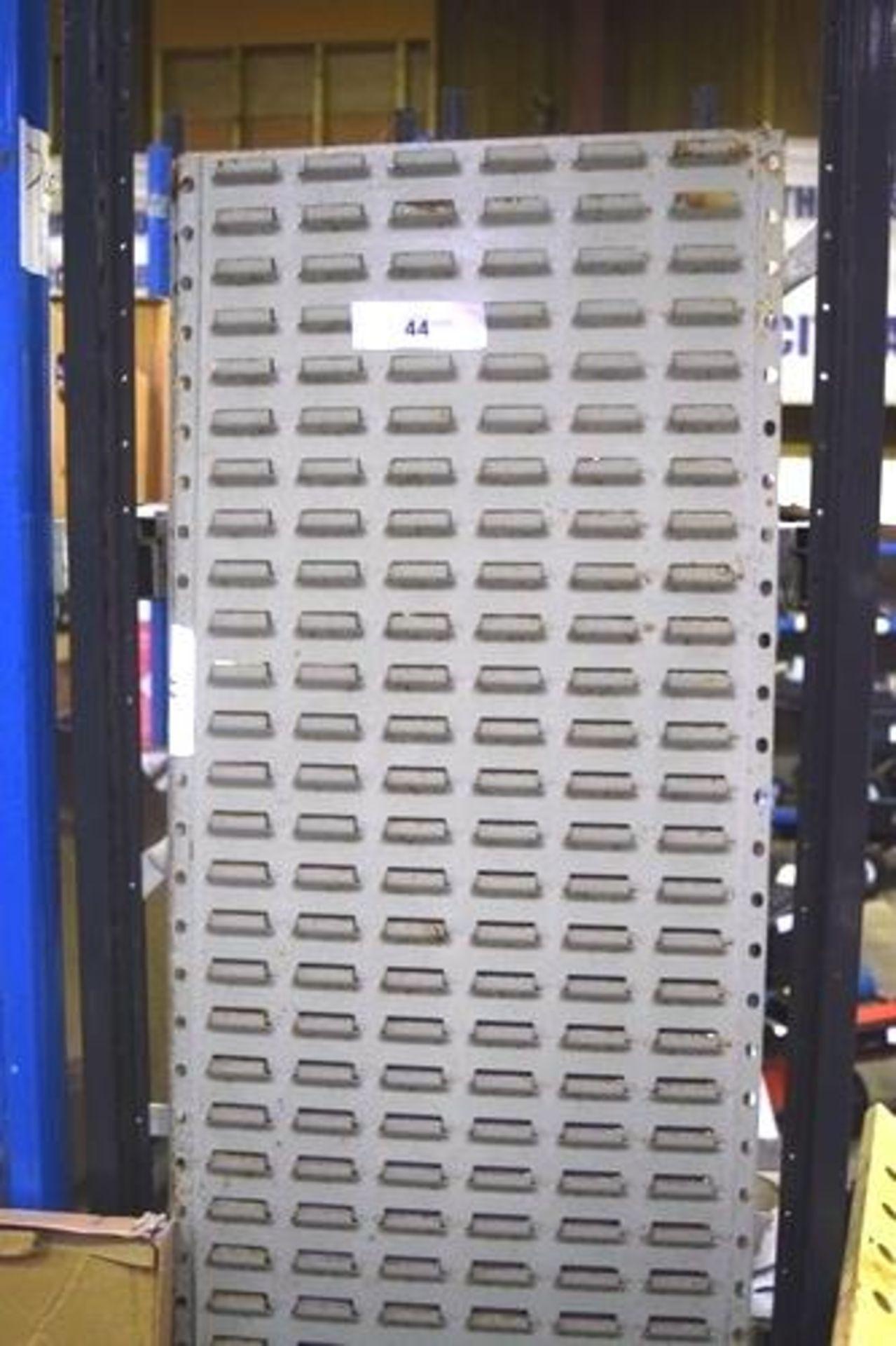 Lot 44 - 2 x grey steel wall mounted bin storage rack, 455mm(W) x 1820mm(H) - Second-hand (GS19)