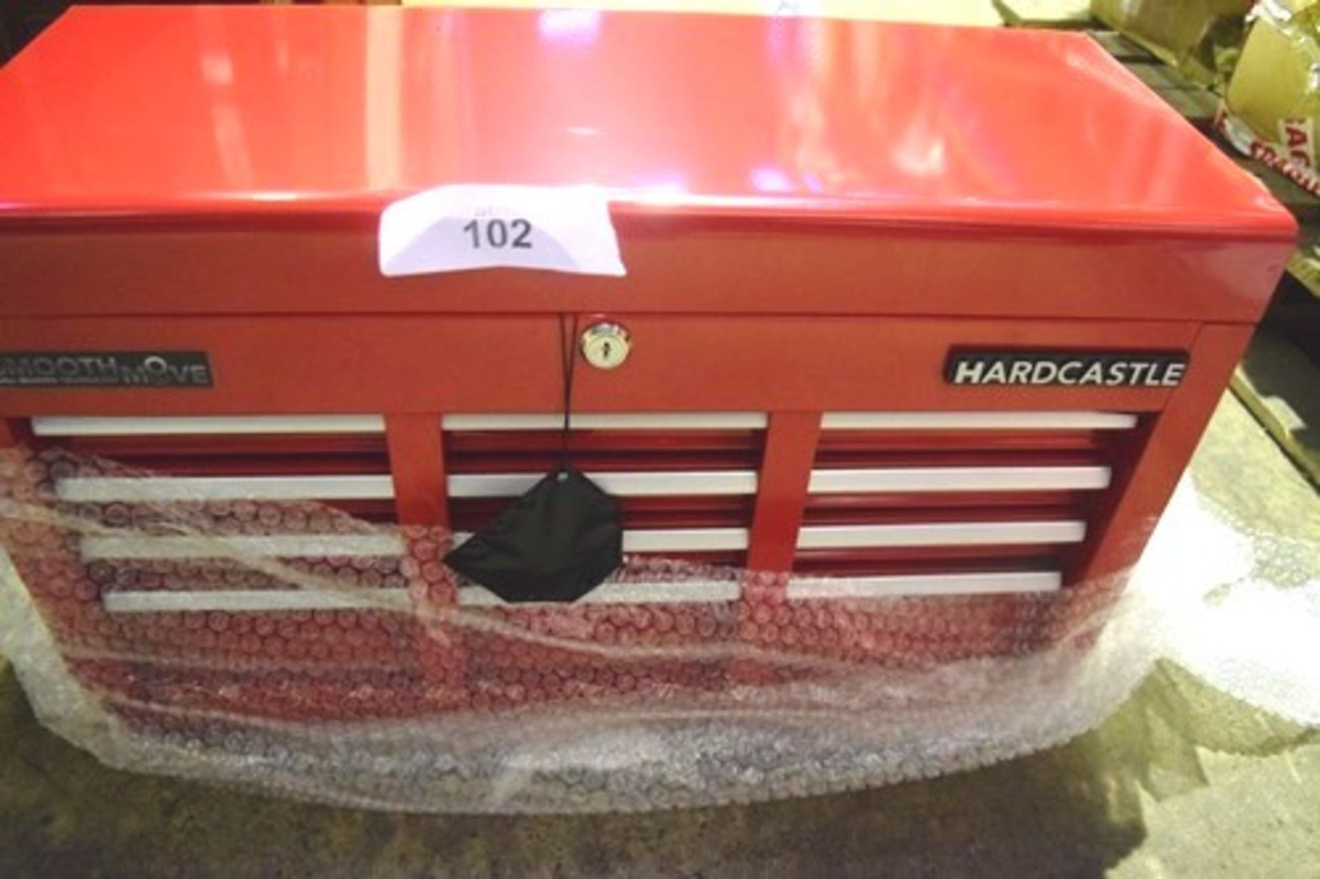 Lot 102 - Hardcastle red metal tool box, 600mm(W) x 260mm(D) x 350mm(H) - New (GS22)