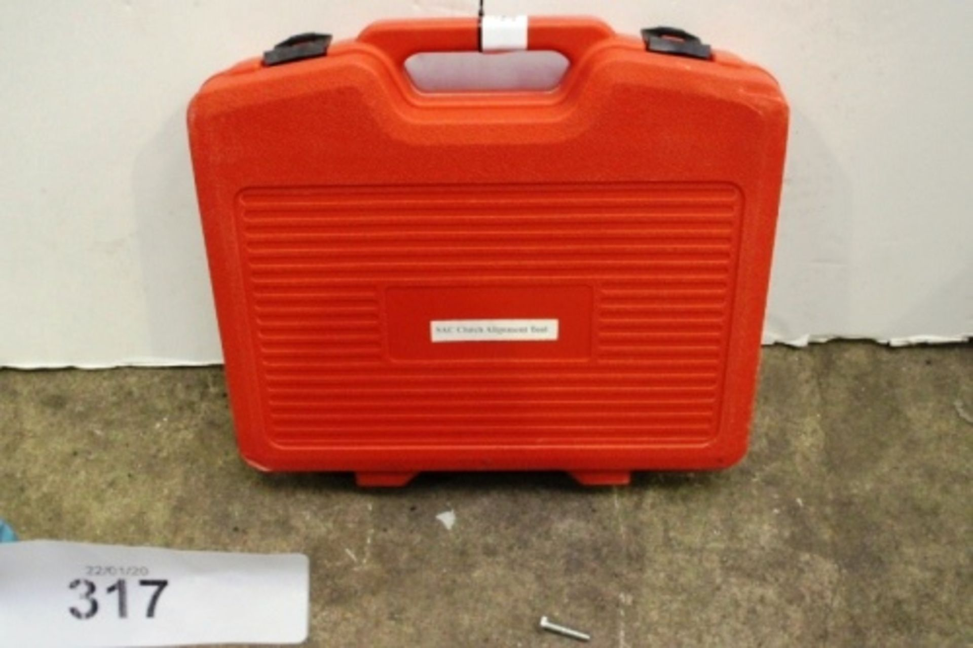 Lot 317 - 1 x SAC clutch alignment tool in red carry case - Sealed new in box (GS7end)