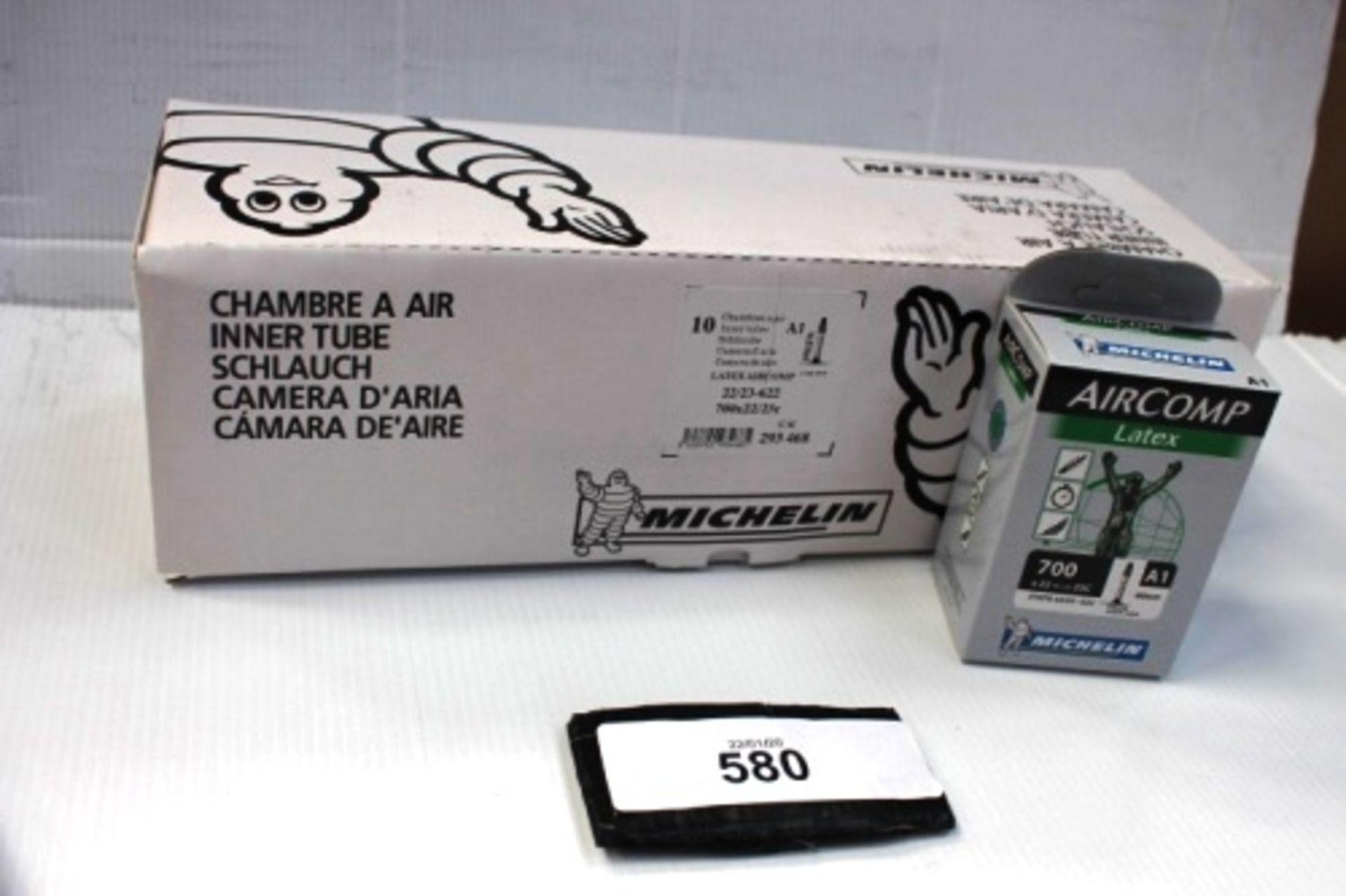 Lot 580 - 10 x Michelin Air Comp Latex 60mm 700 x 22/23C inner tubes - New in box (ES13)