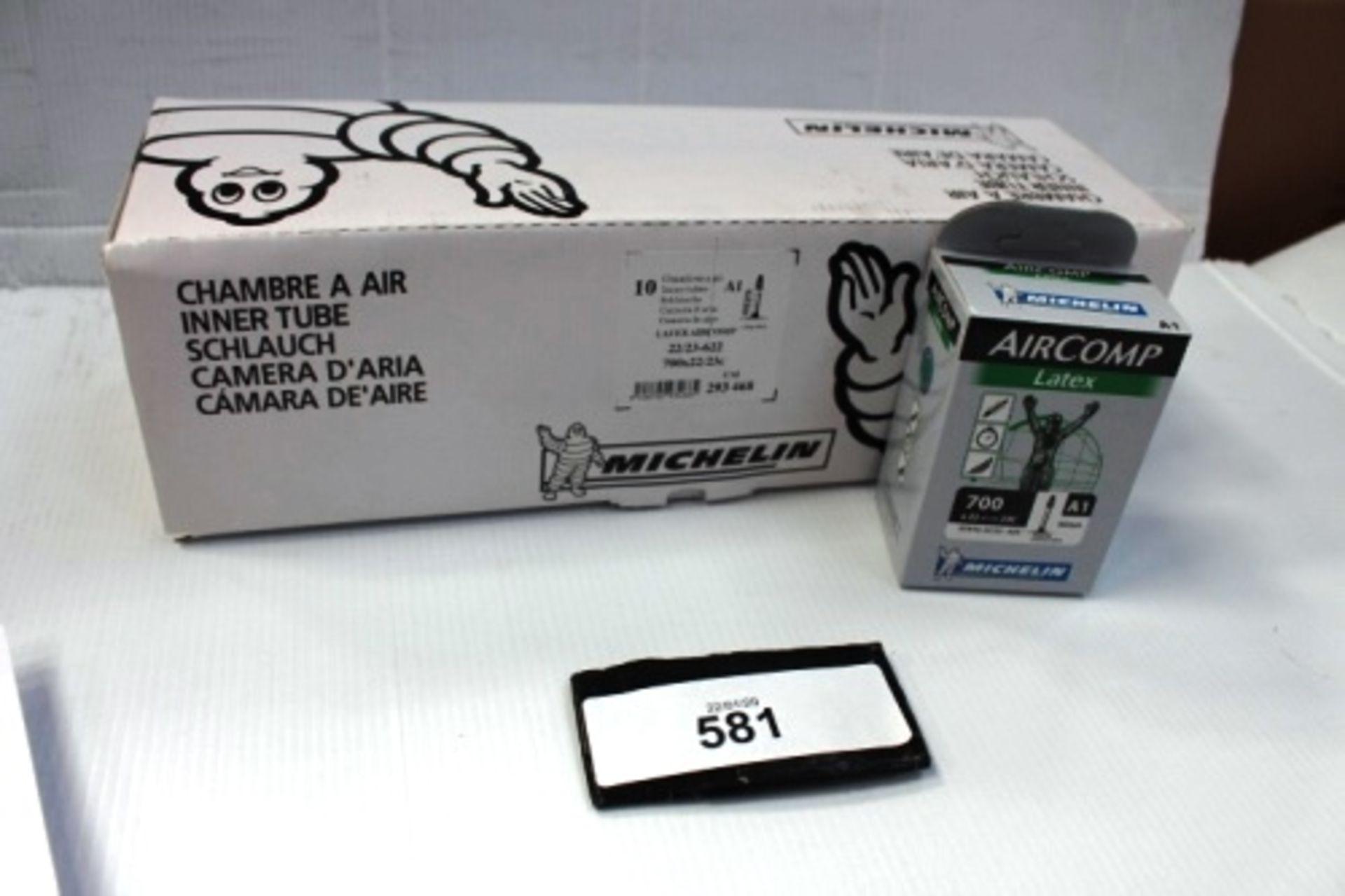 Lot 581 - 10 x Michelin Air Comp Latex 60mm 700 x 22/23C inner tubes - New in box (ES13)