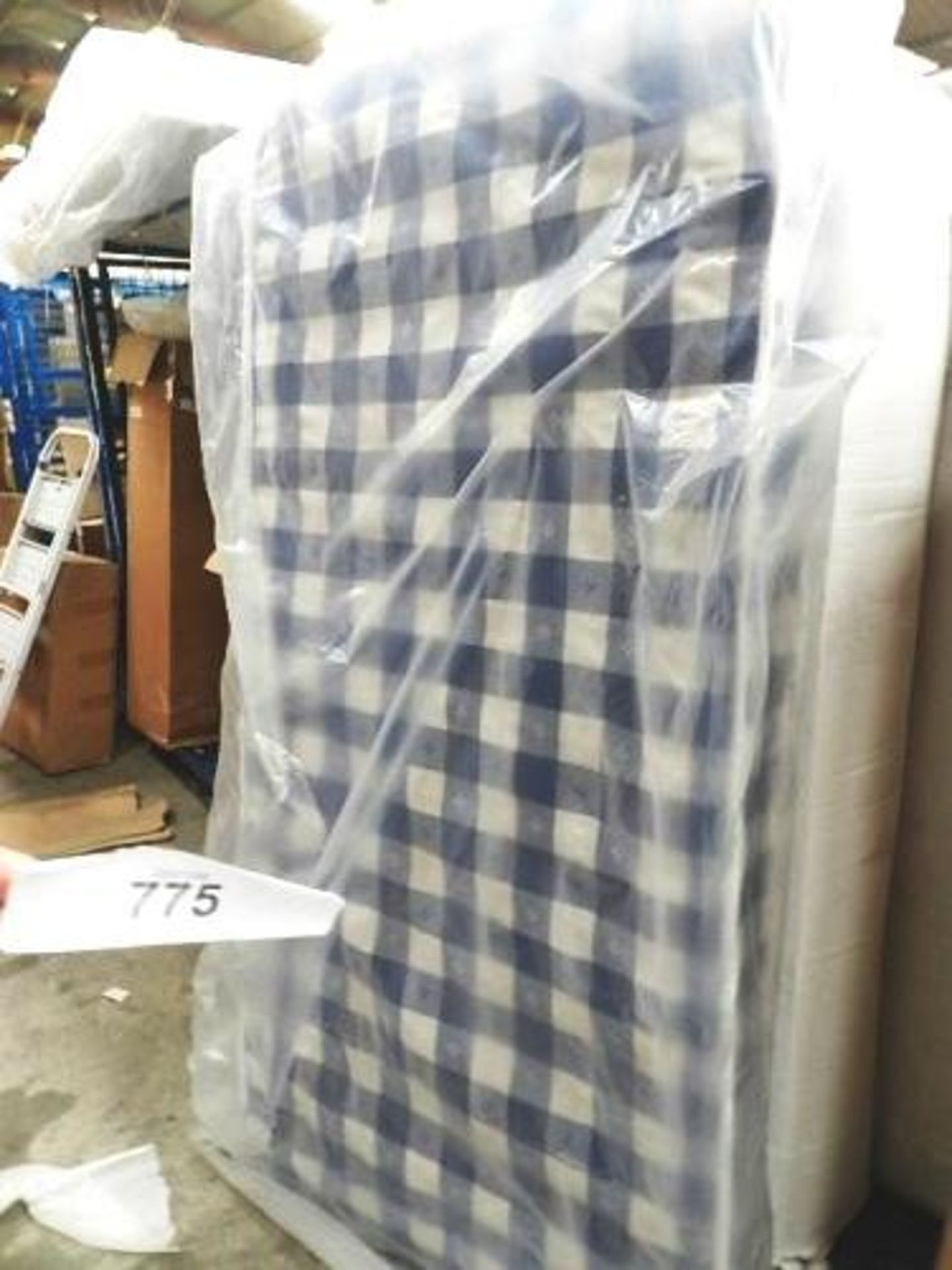 Lot 775 - 1 x sprung single mattress, 3ft wide, not rolled - Sealed new in box (GSF33)