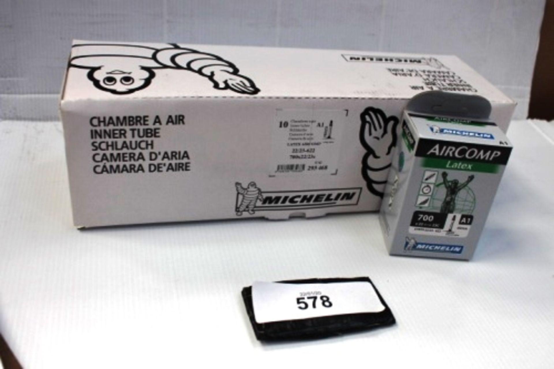 Lot 578 - 10 x Michelin Air Comp Latex 60mm 700 x 22/23C inner tubes - New in box (ES13)
