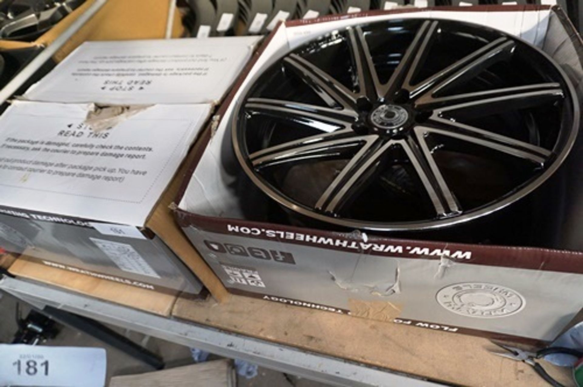 Lot 181 - 2 x Wrath Wheels alloys, model WF-2, size T19 x 8.0 offset 42, 5 holes, P.C.D 112 - New in box (