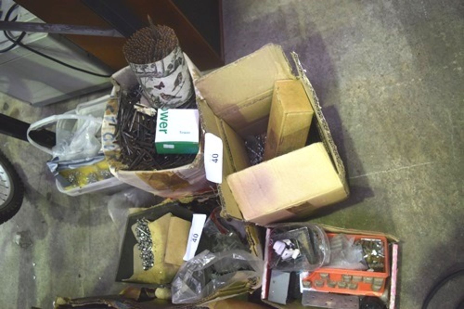 Lot 40 - A quantity of assorted nails, nuts, drills etc. - Second-hand (GS18)