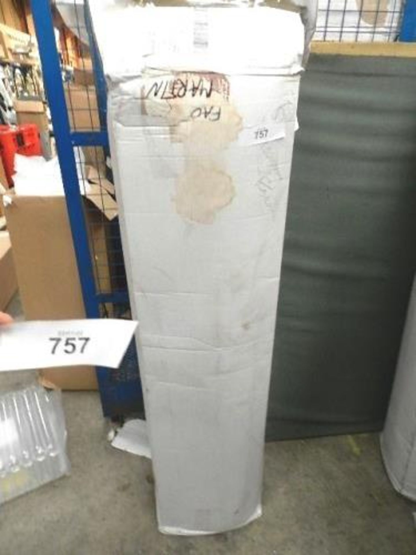 Lot 757 - 1 x double Bubble memory foam mattress, 4.6ft wide x 6.5 - Sealed new in box (GSF31)