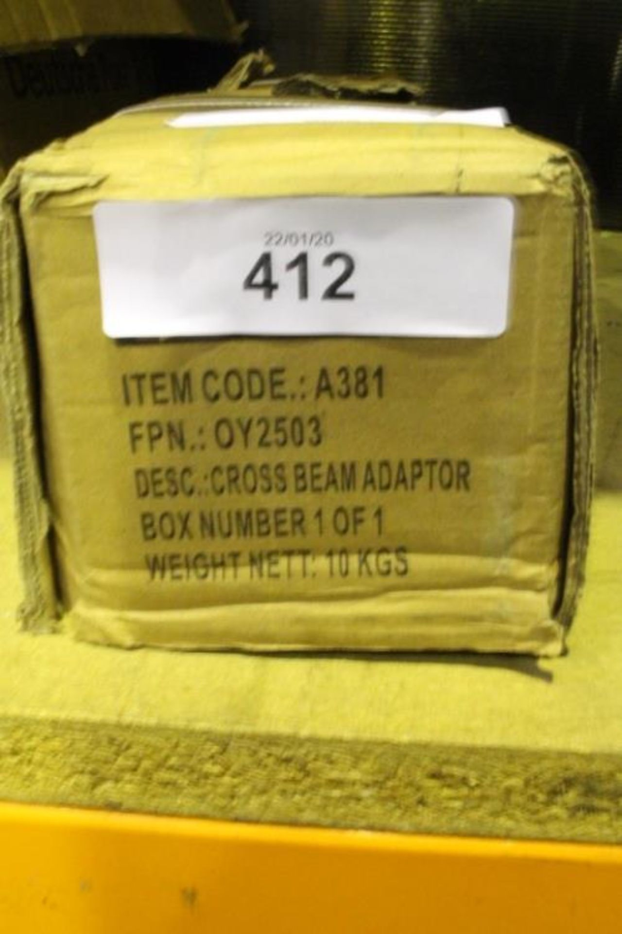 Lot 412 - Dirty Pro Tools cross beam adapter, model A381 - New (GS13)