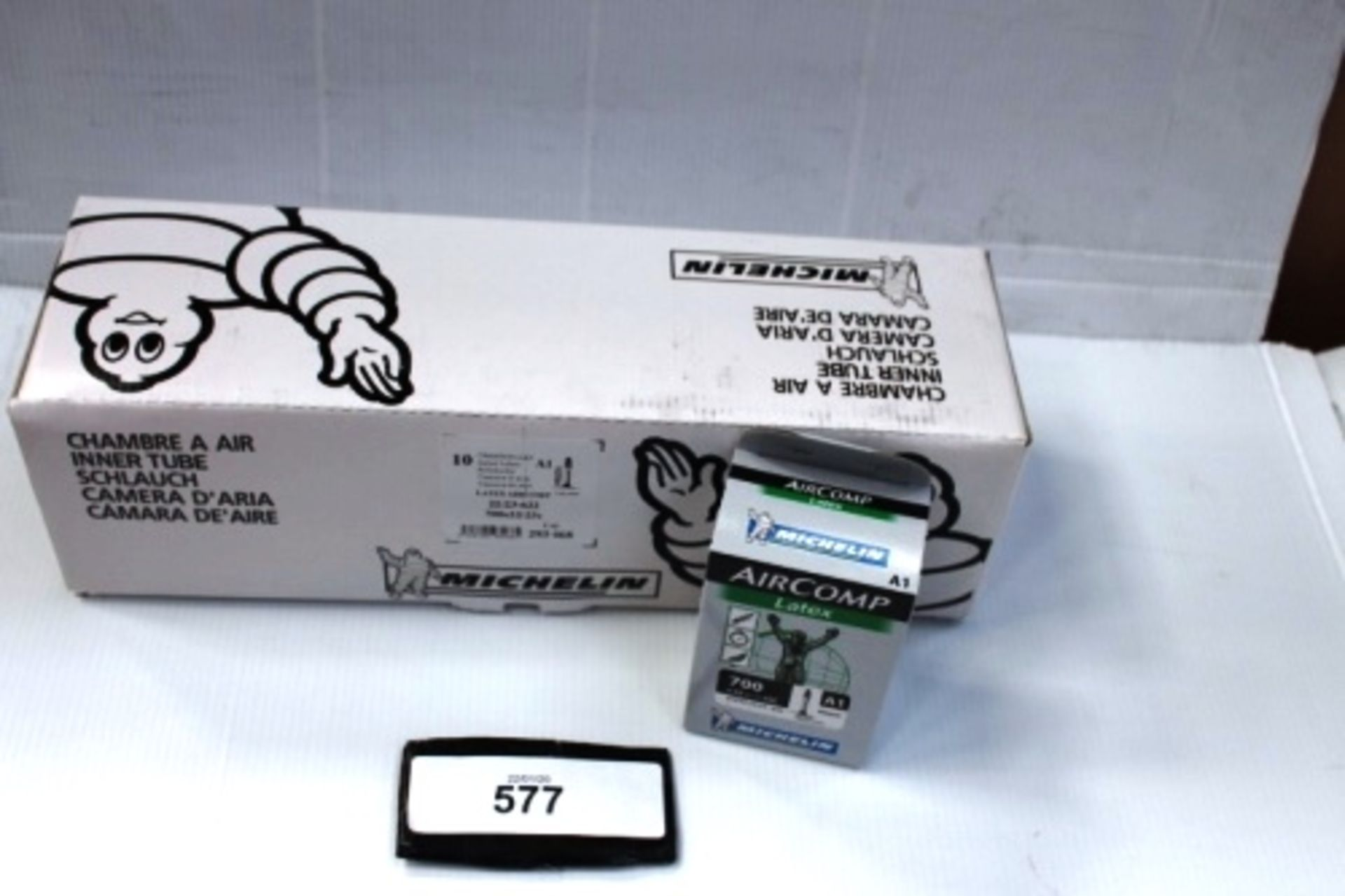 Lot 577 - 10 x Michelin Air Comp Latex 60mm 700 x 22/23C inner tubes - New in box (ES13)