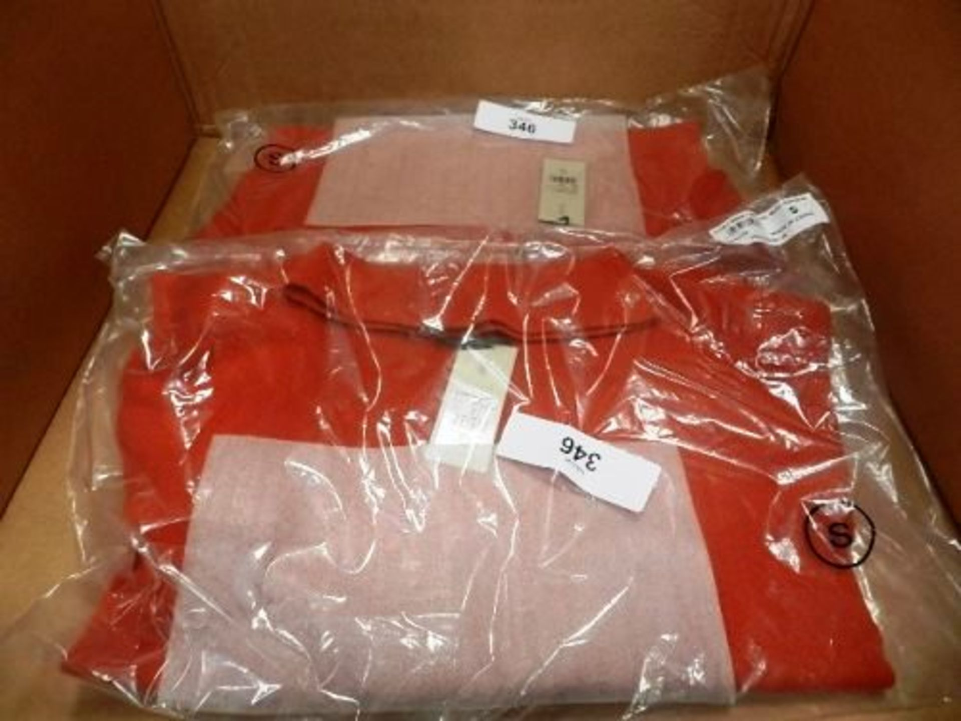 Lot 346 - 2 x Hobbs Audrey sweaters in rust, both size small - New (es14corner)