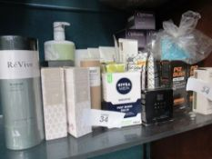 A quantity of skin care products including 11 x Optimum Night Cream, 5 x Dove Derma Spa Body Lotion,