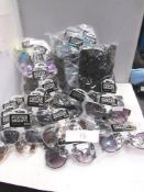 3 x bags containing approximately 60 x pairs in total of Foster Grants sunglasses, including