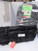 1 x Athera smoothie black holdall and 1 x It Luggage black backpack, 33ltr capacity - New (tableC)
