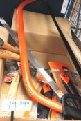 """3 x Bahco professional 39GYJ7 pruning saws, 1 x Bahco Force 30"""" bow saw and spare blade and 4 x"""