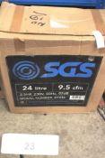 1 x SGS 24L 9.5cfm 2.5hp 230V portable air compressor, model SC24S - New in box (GS26)