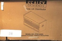 1 x Sealey heavy duty 8 drawer top chest, model PTB104008 and Sealey 1200 x 55mm drawer foam - New