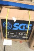 1 x SGS 24L 9.5cfm 1.5hp 230V portable air compressor, model SC24L - New in box (GS26)