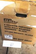 1 x Sealey 8 drawer top chest, colour black, model AP33089B - New in box (GS19)