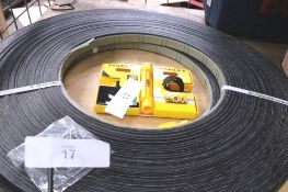 2 x 100m Hranipex furniture edge trim, colour charcoal, size 22 x 22mm, P.N. ABSHU19015PE01 and 1