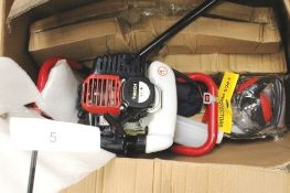 1 x T-Mech earth auger, model 10612, colour red, 2-stroke petrol motor - New (TC2)