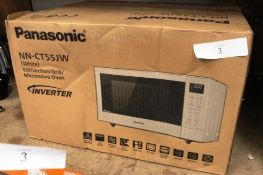 Panasonic white convection/grill/microwave oven, model NN-CT55JW - Sealed new in box (ES1)
