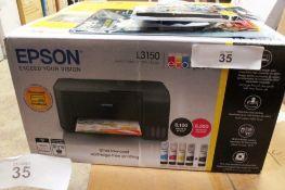Epson L3150 Ecotank multifunction colour printer, model Ref: 715946689845 together with printer