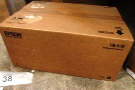 Epson EB670 multimedia projector, model H747B - Sealed new in box (ES4)