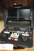 1 x Panasonic LT75 DVC Pro digital video cassette editor, powers on, one damaged screen, untested,