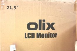 "Olix LCD monitor, 21.5"", model OM22 - New in box (ES9)"