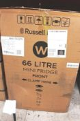 Russell Hobbs 66ltr mini fridge, RHTTF67W - Sealed new in box (ES2)