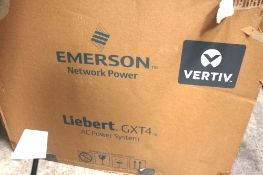 Liebert GXT4 AC power system, model GXT4-3000RT230E - New in box (ES2)