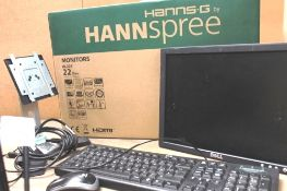"Hannspree HL225 22"" LCD monitor, model HSG1283+, sealed new in box together with Dell monitor,"