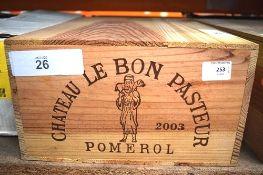 12 x bottles of Chateau Le Bon Pasteur Pomerol 2003 OWC (12) (ES16)