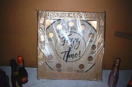 1 x Tick Tock Alco' Clock together with 22 x 20cl/200ml bottles of assorted champagne and