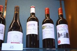 7 x assorted bottles of French wine including 1 x bottle of Chateau Milon St Emilion Grand Cru