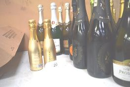 12 x assorted bottles of sparkling wine and 2 x 200ml bottles including 4 x 750ml bottles of