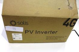 A Solis 4th Generation PV inverter, model Solis Mini 30 00-4G - New in box (ES2)