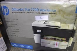 HP OfficeJet Pro 7740 wide format printer, model G5J38A Option A80 - Sealed new in box, box