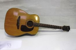 A Harmony Sovereign acoustic guitar in Kingsman fabric carry case, used RRP £200.00 - £300.00 -