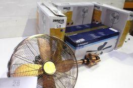 """1 x Westinghouse 135cm Everett ceiling fan and light, model 72154, 1 x 16"""" copper tripod fan,"""