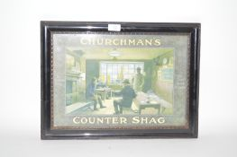 A Churchman's Counter Shag advertising sign for ""
