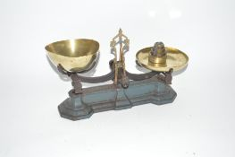 A set of W. & T. Avery cast iron and brass scales