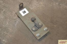 Ball hitch for tractor.