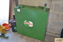 Castrol oil tank with pump.