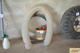 Sprayer filters and pipework together with 2m 150mm flexible hose (little used, cost in excess of £