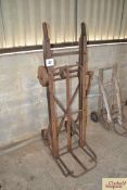Sack lifter by John Cooke & Son, Lincoln. Sign written Ransomes Sims & Jeffries. NO VAT.