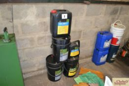 Various John Deere oils.