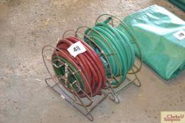 2x reel of garden hose.