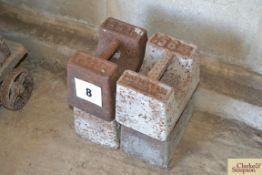 Quantity 56lb weights.